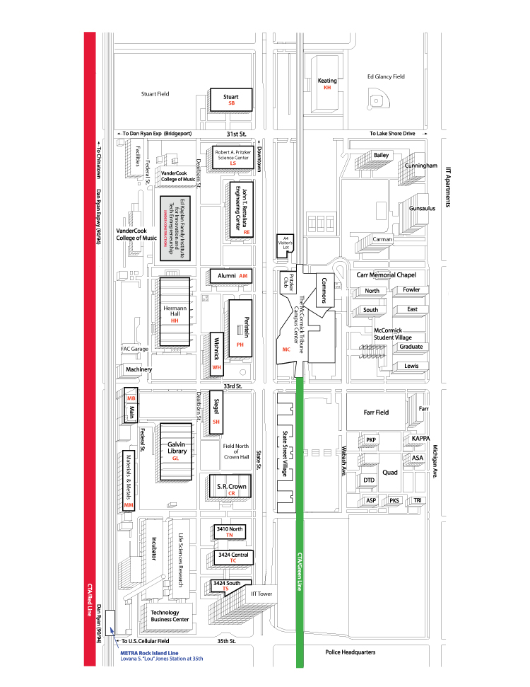 Mies Main Campus Map