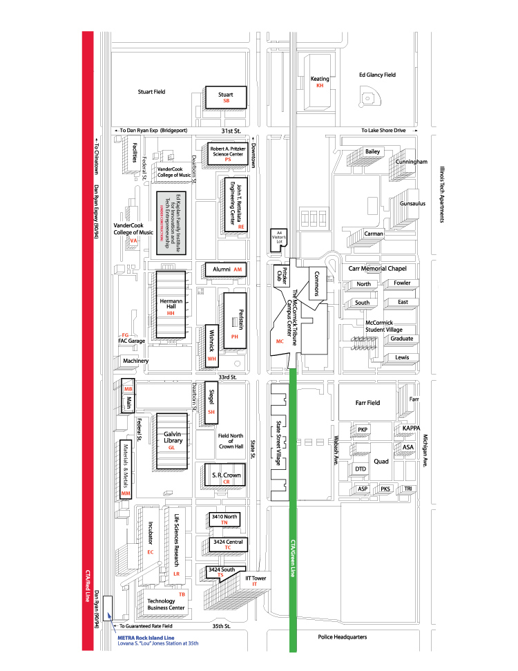Mies Campus Map