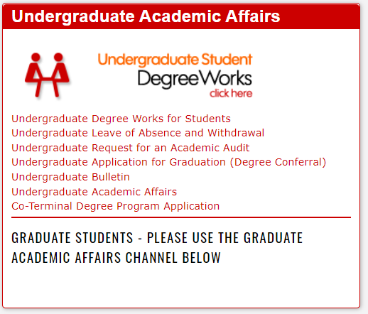 Link to Degree Works