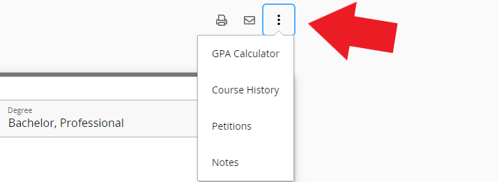 Image of accessing Course History