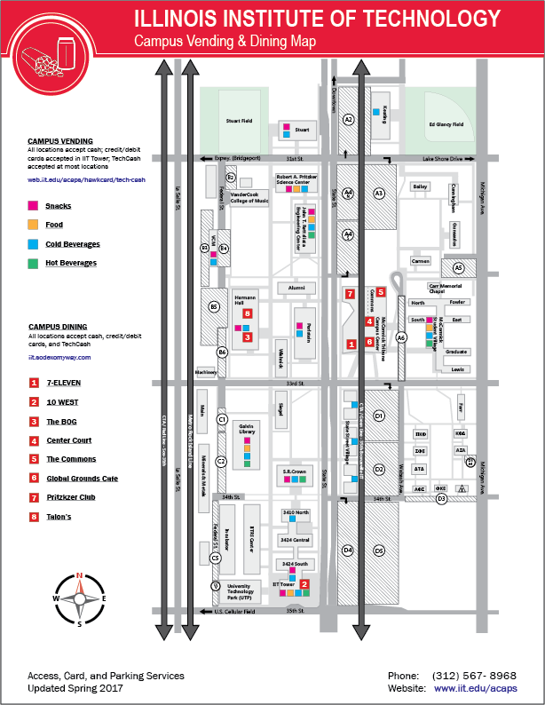 Vending and Dining Map