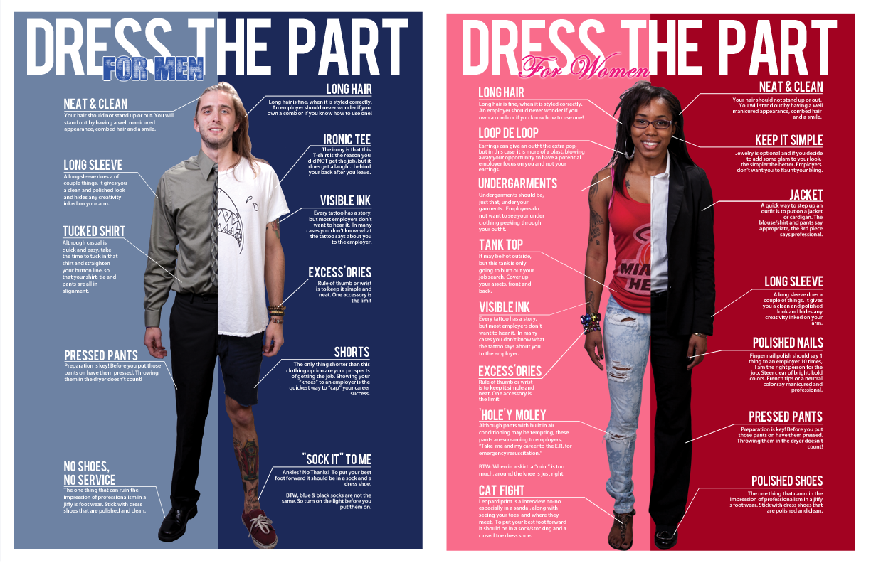 clothing closet offers professional attire to students and alumni career fair stlye guidelines