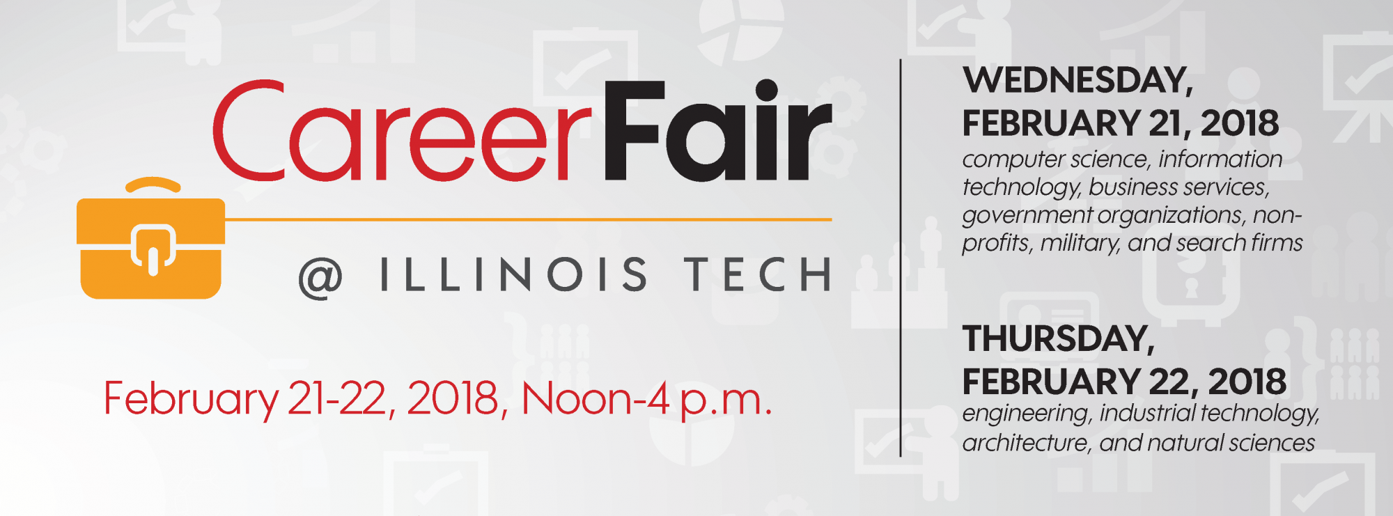 our campus wide career fairs are held each semester and are two days separated by general industry groupings to allow for more companies to attend and - Computer Science Resume Iit