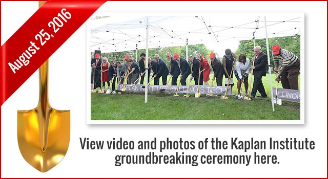Kaplan Institute Groundbreaking Photos and Video