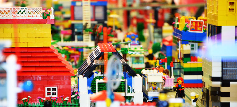 Scene of a Lego® city.